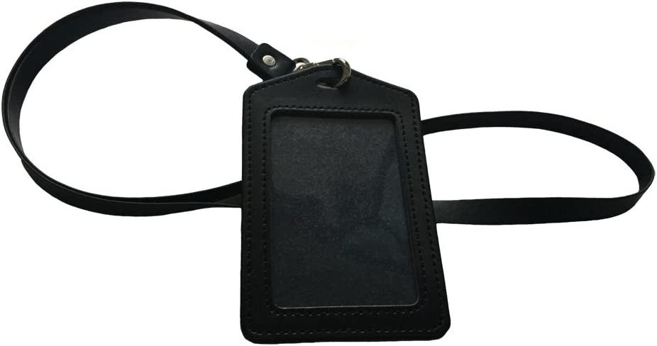 Bleu Aiklin Unisexe Cuir Porte-Badges ID Carte Vertical Badge