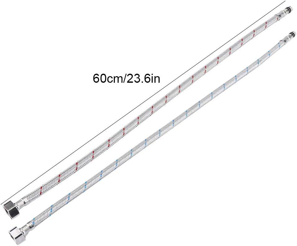 2PCS G3//8 GOTOTO Flexible Tuyau deau de Robinet Acier Inoxydab Tuyau dalimentation pour Robinet G3//8