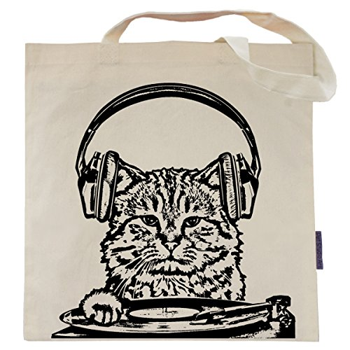 Cat Tote Bag by Pet Studio Art (Casual Tote, Listen to the Mewsic) (Self Yo Tote Treat)