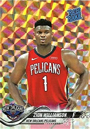 Amazoncom 2019 Zion Williamson Rookie Basketball Card Custom