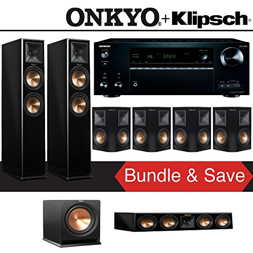 Klipsch RP-260F 7.1-Ch Reference Premiere Home Theater System (Piano Black) with Onkyo TX-NR777 7.2-Channel Network A/V Receiver
