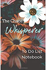 The Chaos Whisperer: To Do List Notebook: 5.5 x 8.5 inch To Do List and New Ideas Notebook with Orange and Pink Floral Cover Paperback