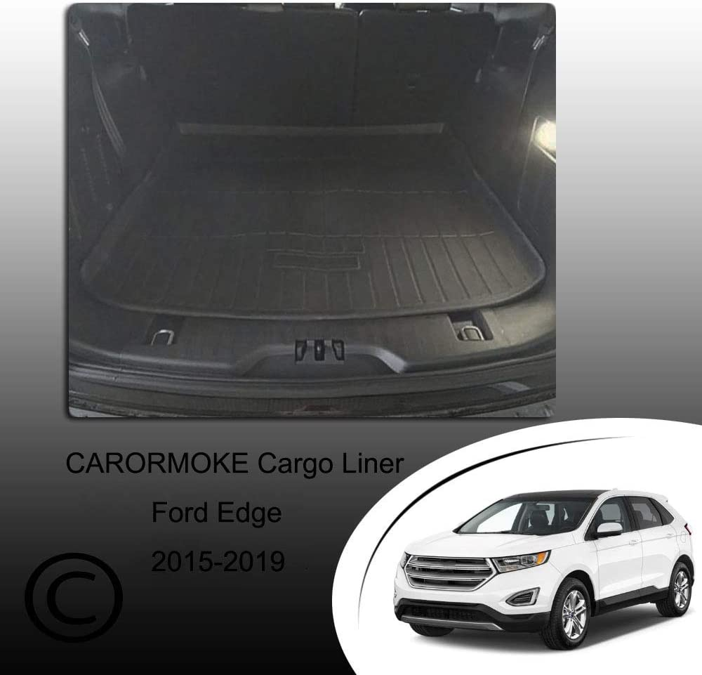 CARORMOKE Cargo Liner Trunk Mat Floor Mat Cargo Tray Black 2019 All Weather Protector Compatible with 2015-2018 Ford Edge