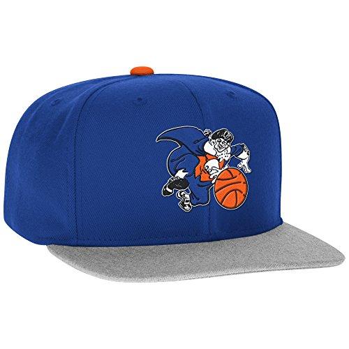 NBA New York Knicks Men's Hardwood Classic Team Snapback Cap, One Size, Blue/Orange