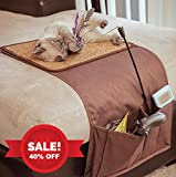 snowpaw Cat Scratcher with Cat Toy Storage and Remote Control Holder, Sisal Cat Scratcher, Cat Scratcher Pad, Cat Scratcher Protector, Furniture Protection, with Free Organic Catnip