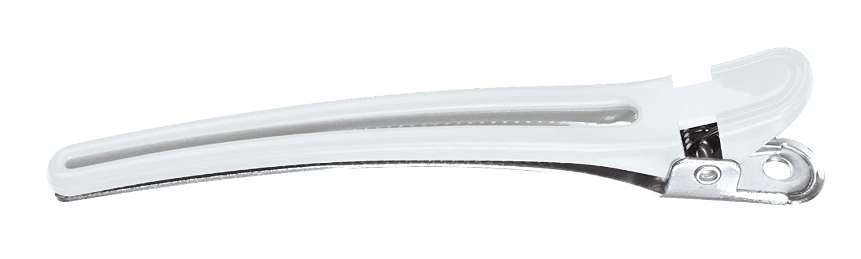 Comair 3150048 Haarclips Plastik/Aluminium, 10 Stück, 95 mm, weiß 10 Stück weiß