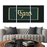 UHOO Prints Wall Art PaintingsThank You Hand Lettering Card Modern Calligraphy 1. Customizable Wall Stickers 24'x36'x3pcs