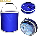 hiking water filter nz Camping Collapsible Bucket - Folding Multifuctional Water Container| Lightweight Portable Large Bucket| Car Cleaning Wash Bucket Pail| For Outdoor Camping, Hiking, Fishing, Washing & Gardening