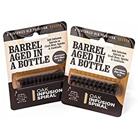 2 Pack – Barrel Aged in a Bottle Oak Infusion Spiral. Barrel Age Your Whiskey