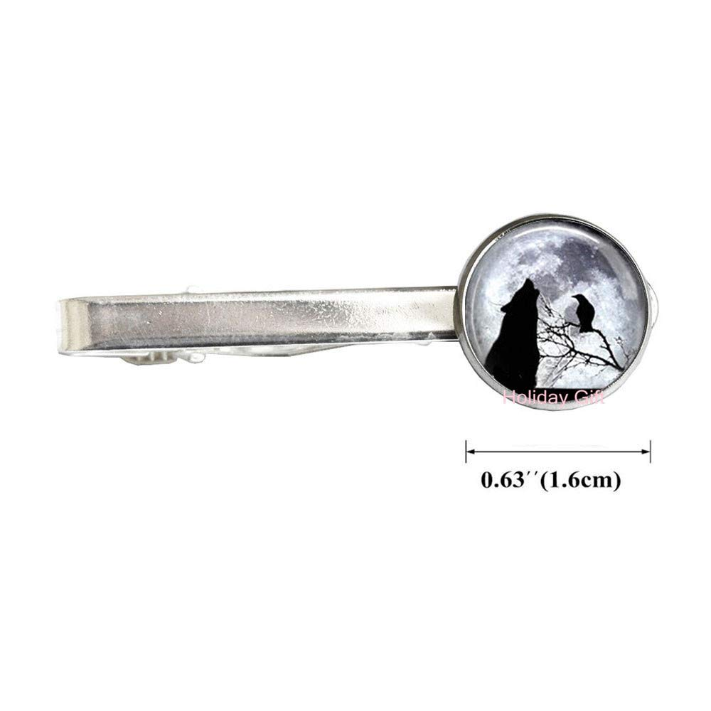 HTY-241 - Alfiler de corbata con diseño de lobo y luna: Amazon.es ...
