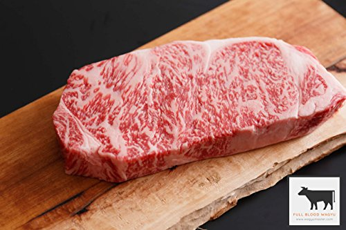 A5 Japanese Miyazaki Wagyu Beef | New York Strip Steak Via 2 Days Air (8 oz - 2 Steaks)