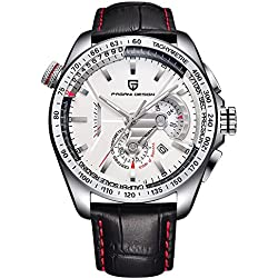 44mm Pagani Design Full Chronograph Tachymeter Sport Mens Quartz Watch