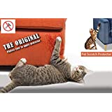 Pet Scratch Protector, 2 Pack Cat Dog Scratch Furniture Protector - Transparent Dog Cat Claw Guards with Self-Adhesive Pads - Protect Sofa Walls Mattress Car Seat Door - Love Your Furniture AND Your Cat! (18 x 5.9 Inch)