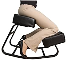 Sleekform Ergonomic Rocking Kneeling Chair with Steel Frame - Better Posture Kneeling Stool - Great Home Office or Desk Chair - Larger Seat, Knee Cushions - Sturdy and Comfortable - Orthopedic Stool
