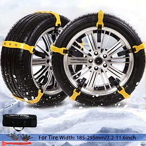 PrettyQueen SUV Car Snow Chains for Trucks Cars Snow Tire