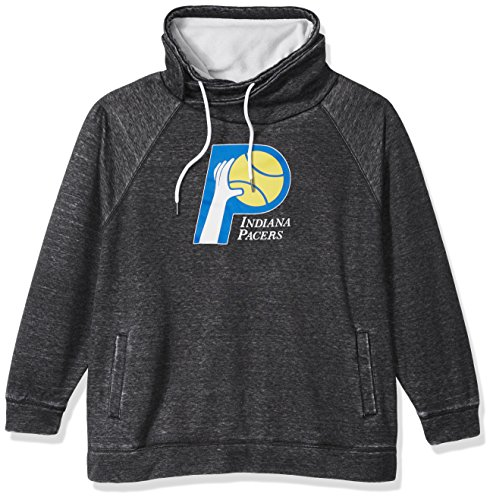 Touch by Alyssa Milano NBA Indiana Pacers Spiral Sweatshirt Plus, 1X, Charcoal Grey