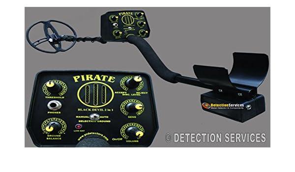 Pirate Black Devil 2 in 1 14 kHz Detector de metales profesional: Amazon.es: Jardín