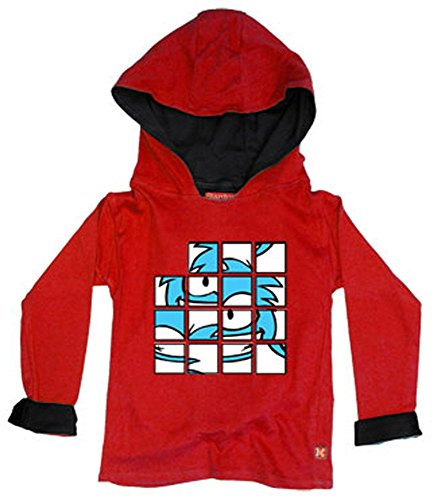 (Puffle Puzzle Hoody - Red 7-8 yrs )