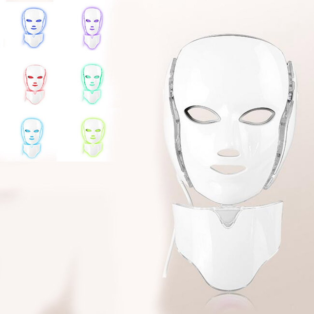 XCXC JIN 7 Colors Mask LED Photon Therapy Beauty Collagen, Anti Aging, Wrinkles, Scarring