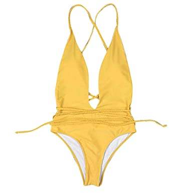 QUICKLYLY Bikini Mujer 2018-2019 Push up Cintura Alta brasileño Sexy Traje Baño Ropa Interior