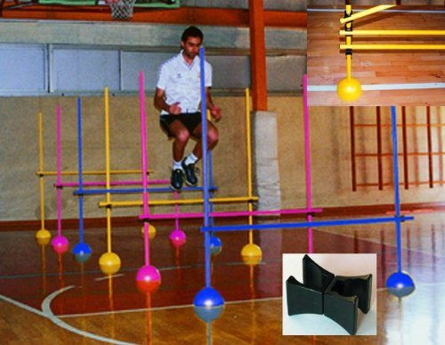 8 Indoor Agility Hurdles w Poles & Bases Set by Goal Sporting Goods