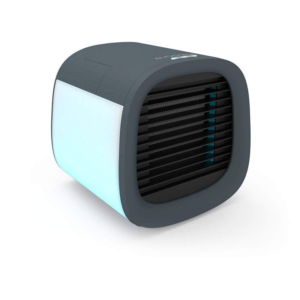 Evapolar evaLIGHT Plus Personal Portable Air Cooler and Humidifier Desktop Cooling Fan with USB Connectivity and Colorful Built-in LED Light for Home and Office White