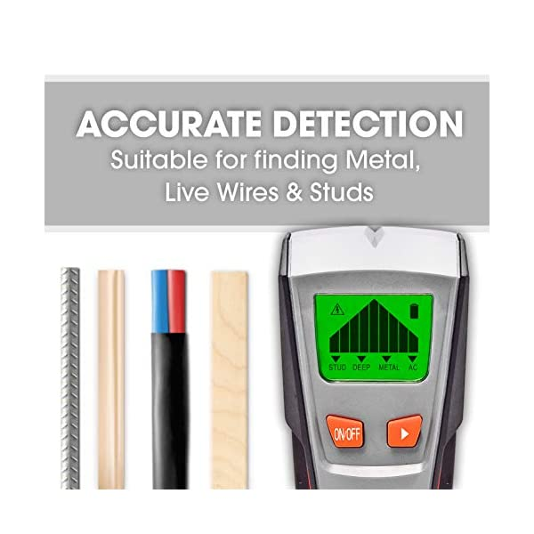 Terratek-Pro-Genuine-Stud-Finder-Wall-Scanner-Live-Wire-Detector-Finds-Metal-Wood-AC-Live-Cables-and-Pipes-LCD-Screen-Deep-Detection-Feature-Auto-Calibration-9V-Battery-Included