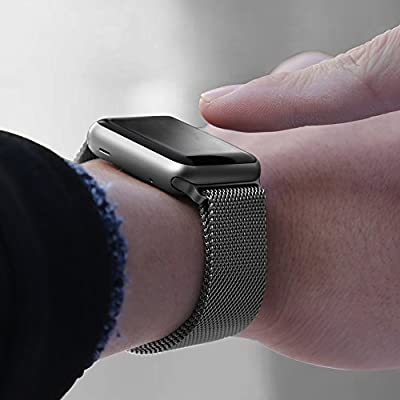 Walcase for Apple Watch Band 38mm 42mm, Milanese Loop Replacement Metal iWatch Band for Apple Watch Series 3 2 1 (42mm, Space Gray)