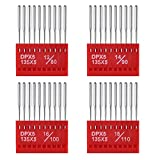 #7: BBTO 40 Pieces Round Head Machine Needles Assorted with Plastic Box for Regular Point Sewing, 4 Sizes