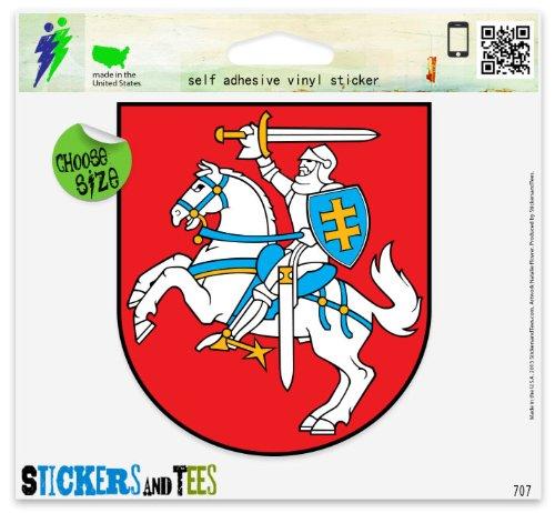 Lithuania Coat Of Arms Flag Vinyl Car