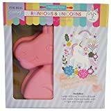 Handstand Kitchen Rainbows and Unicorns 7-piece Real Cake Baking Set with Recipes for Kids