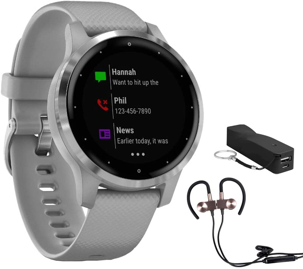 Garmin Vivoactive 4S Smartwatch (010-02172-11) with Wireless Sport Earbuds & More