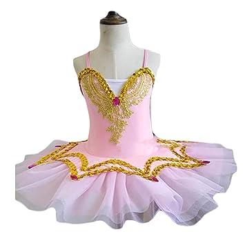 Panda Legends Vestido de Ballet de Lentejuelas para niñas ...