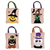 Halloween Candy Bags,MeiLiio Creative Cartoon Designer Holiday Festival Decor Bags Children Evening Gift Bags Gift Handbag / 4 PCS