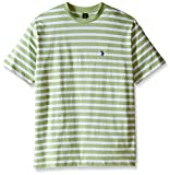 U.S. Polo Assn.. Men's Big-Tall Short Sleeve Melange Stripe Crew Neck T-Shirt, Summer Lime, 3X