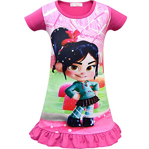 Vanellope From Wreck It Ralph Costume (Cercur Girls Dress for Wreck-It Ralph Vanellope Baby Sugar Rush Party Dress up Costumes Pajama)