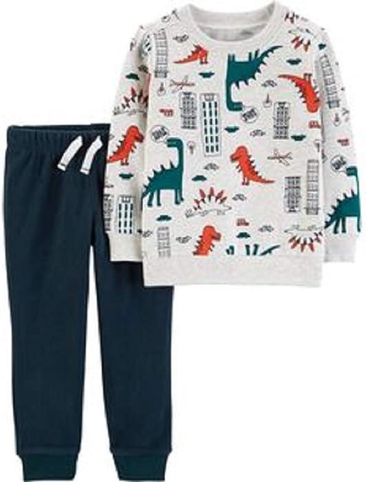 1059cf28f Amazon.com  Carter s Baby Boy 2-Piece Dinosaur Fleece Pullover ...