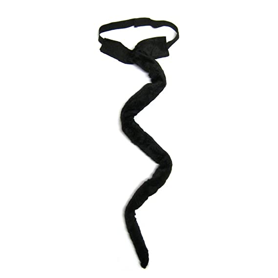 Amazon.com: SeasonsTrading Long Black Plush Cat Tail Costume ...