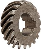 Boston Gear H2418L Plain Helical Gear, 45 Degree Helix, 14.5 Degree Pressure Angle, 0.375 Bore, 24 Pitch, 18 Teeth, Steel, LH