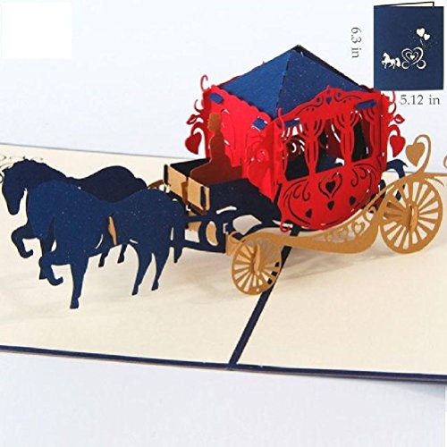 Heliyan Cards 3D Pop Up Birthday Greeting Gift Cards Laser Cut Heart Vintage Invitation Mariage Love Letters