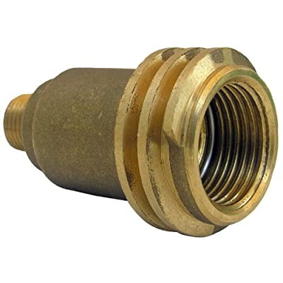 LASCO 17-5381 Male QCC-1 by 1/4-Inch Male Pipe Thread Brass Adapter
