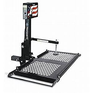 Harmar Mobility Upgraded AL010 Micro Power Wheelchair Lift Outside Fully Automatic Carrier with II/III Hitch Adapter & Wiring Harness (Stars N Stripes Edition)