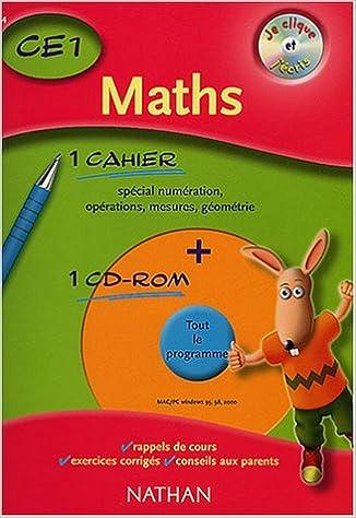 Lire Je clique et j'écris : Maths CE1, 2003 pdf