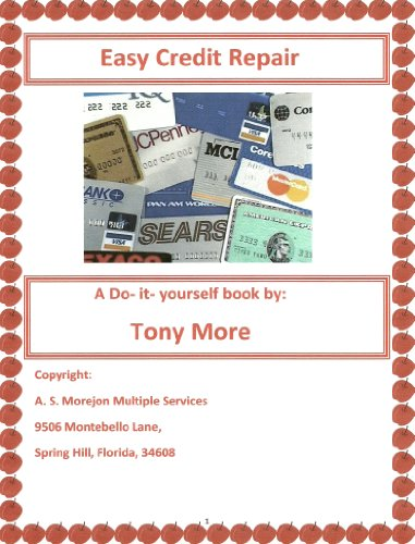 Amazon easy credit repair do it yourself book 1 ebook tony easy credit repair do it yourself book 1 by more tony solutioingenieria Gallery