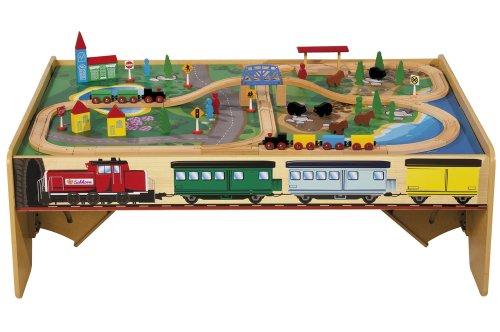 Tisch Eisenbahn.Eichhorn 100001970 Holz Bahn Mit Spieltisch Inklusive Zubehör