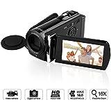 GordVE KG0018 16MP Digital Camera DV Video Recorder Mini DV Camcorder with 3.0 Display 16x Digital Zoom