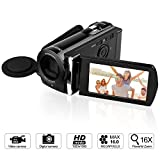 GordVE KG0018 16MP Digital Camera DV Video Recorder Mini DV Camcorder with 3.0'' Display 16x Digital Zoom