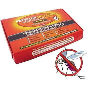 Amazon Com 6 Pack Mosquito Repeller Bug Band Bracelet