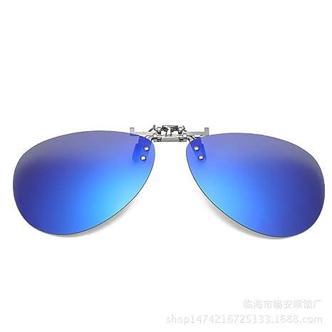 KOMNY El Aluminio y el magnesio acortan el Conductor clásico de la miopía del Espejo de la Rana Que Conduce el Clip Colorido de Las Gafas de Sol B-3 de la ...