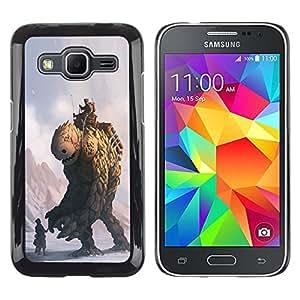 EJOY---Cubierta de la caja de protección la piel dura para el ** Samsung Galaxy Core Prime ** --Monster Piedra